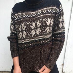 ❄️ Cozy Snowflake Turtleneck Sweater ❄️